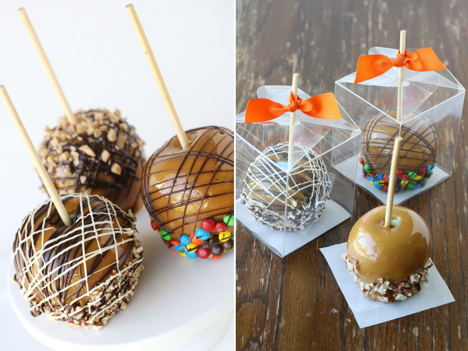 how to package caramel apples