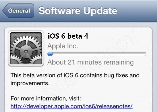 iOS 6 beta 4 Download