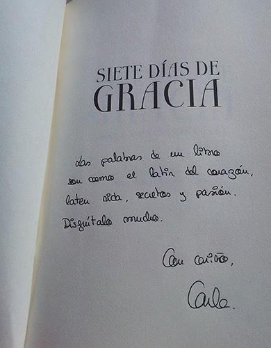 Siete días de Gracia (Carla Gràcia Mercadé)