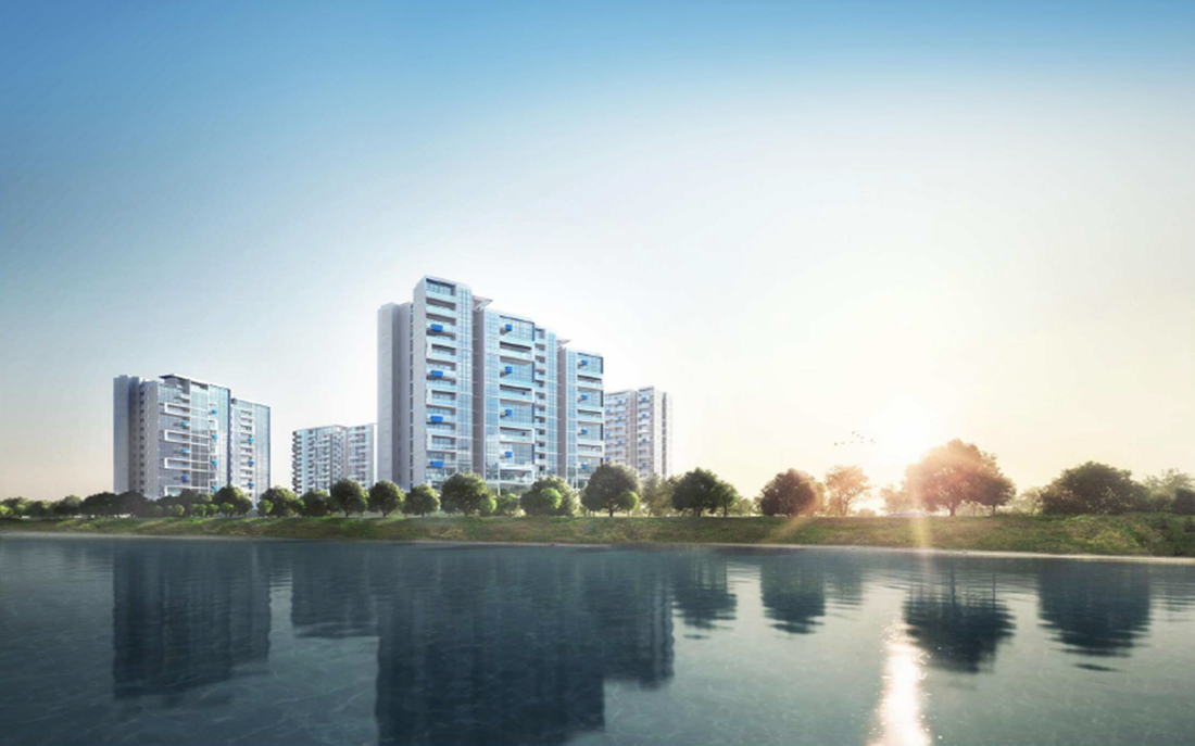 artist illustration of The Santorini condo at Tampines