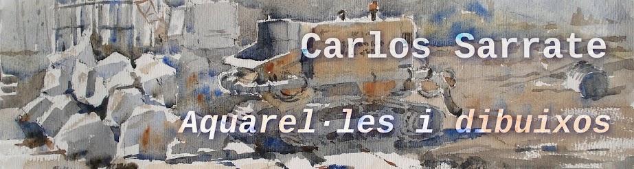 Carlos Sarrate, aquarel·les i dibuixos