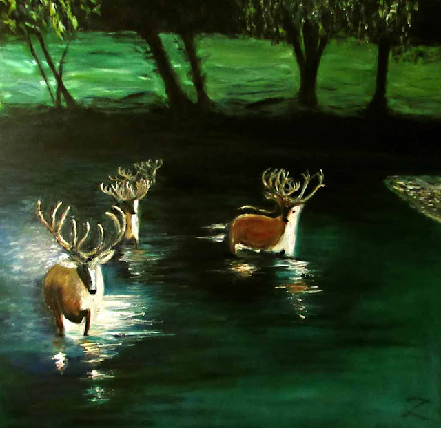 2016 Deer on Water #2