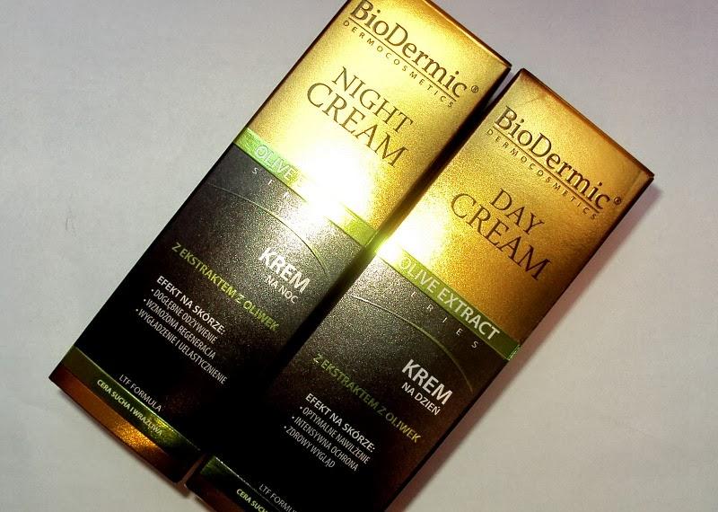 Kremy oliwkowe na dzień i na noc Olive Extract Series.