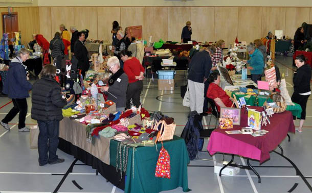 Lots of goodies at the Saturna Christmas Market