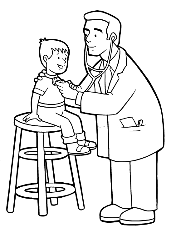 kid doctor coloring pages - photo#1
