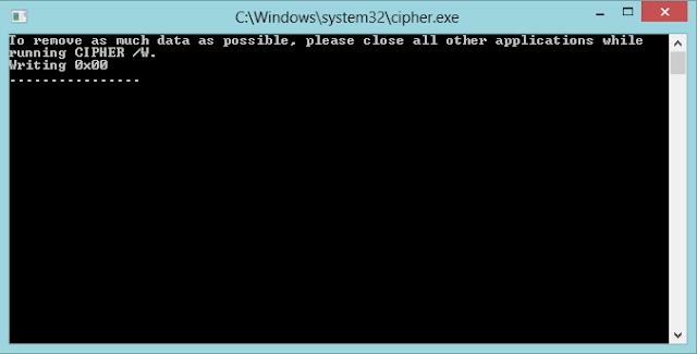 كيف تجعل الملفات المحذوفة من سلة المهملات غير قابلة للإسترجاع مرة اخرى بدون  إستعمال برامج