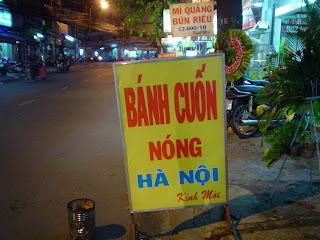 Typical Vietnamese food restaurant