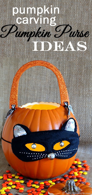 This DIY pumpkin purse from Diane over at in my own style can even be used as a DIY treat or treating basket for the kids - multi-purpose fall crafts are the best!