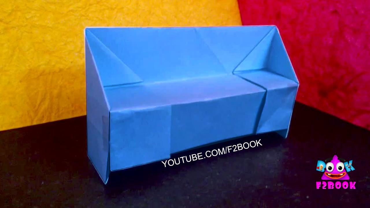 Paper Sofa Craft Work Origami