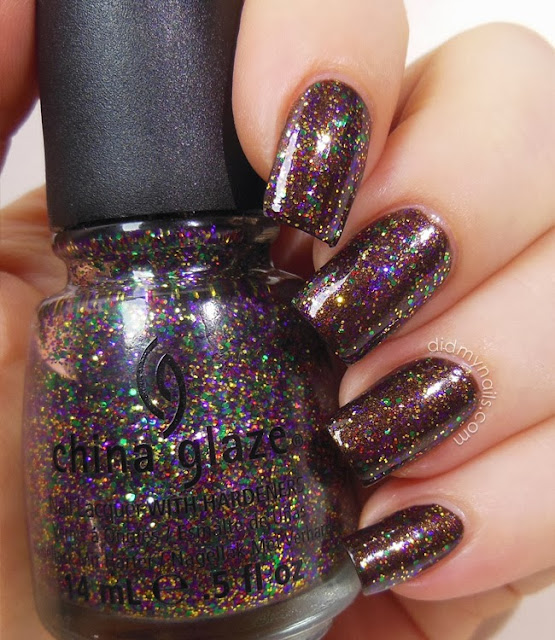 China Glaze Glitter All the Way swatch