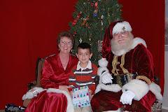 Siah with Santa