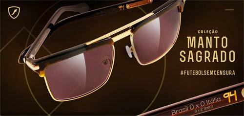 Chilli Beans óculos de sol Manto Sagrado coleção Copa do Mundo