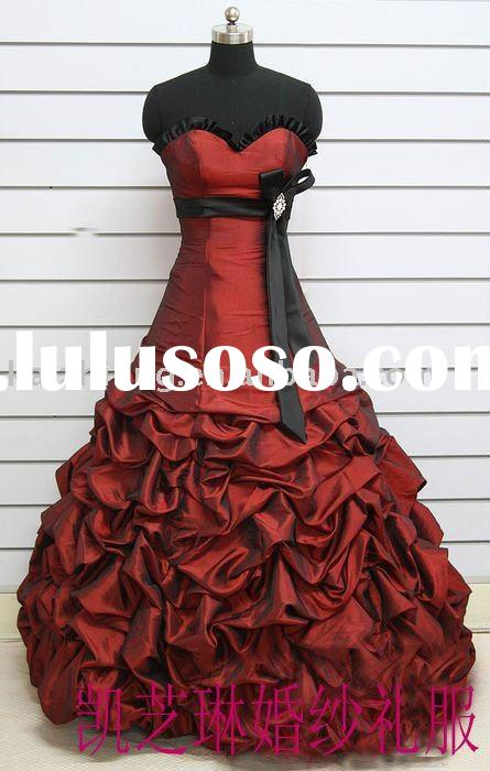she fashion club red and black wedding dresses