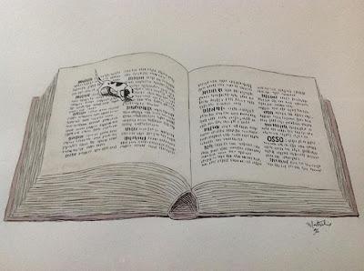 Livro, Book, Book and Dog, Open Book, Livro Aberto, Desenho de Livro, Ilustração