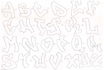 Alfabeto de Letras Graffitis Graffiti Alfabeto Graffiti