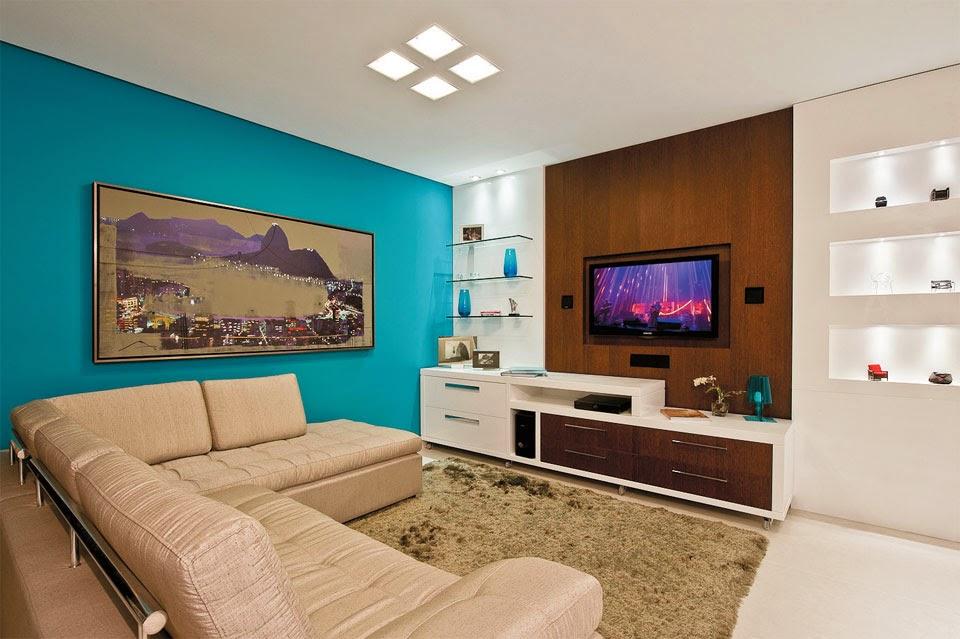 Sala De Tv Simples E Aconchegante ~ Veja agora mais ideias de decoração de salas de tv