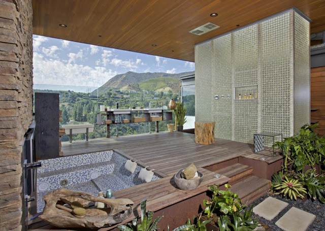 Photo of bathroom with the view of hills