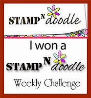 I am a Stamp 'n Doodle Winner!