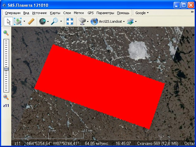 SASPlanet maps ESRI ArcGIS Landsat  red