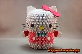 Cute Hello Kitty Origami 3D