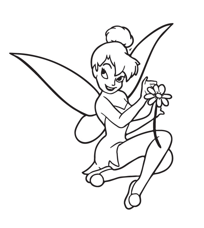 baby tinkerbell coloring pages - photo#3
