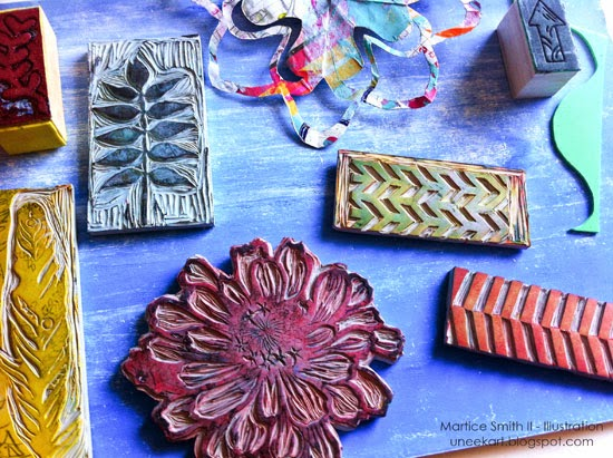 Martice Smith II's super handcarved stamp collection