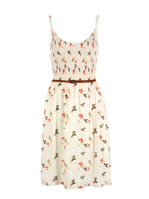 Majorelle Ecru Dress