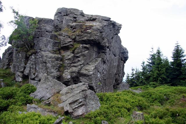 Isergebirge Granitfelsen Hinterberg Aufstieg von Bad Flinsberg