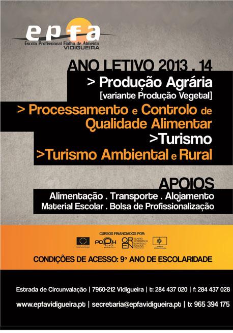 Cursos profissionais com bolsa na Vidigueira (distrito de Beja)