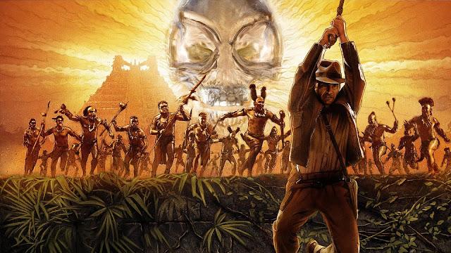 Harrison Ford, George Lucas, Steven Spielberg, Karen Allen, Indiana Jones