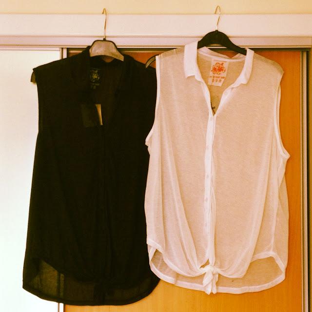 Black and White Womens Cotton Shirts Primark