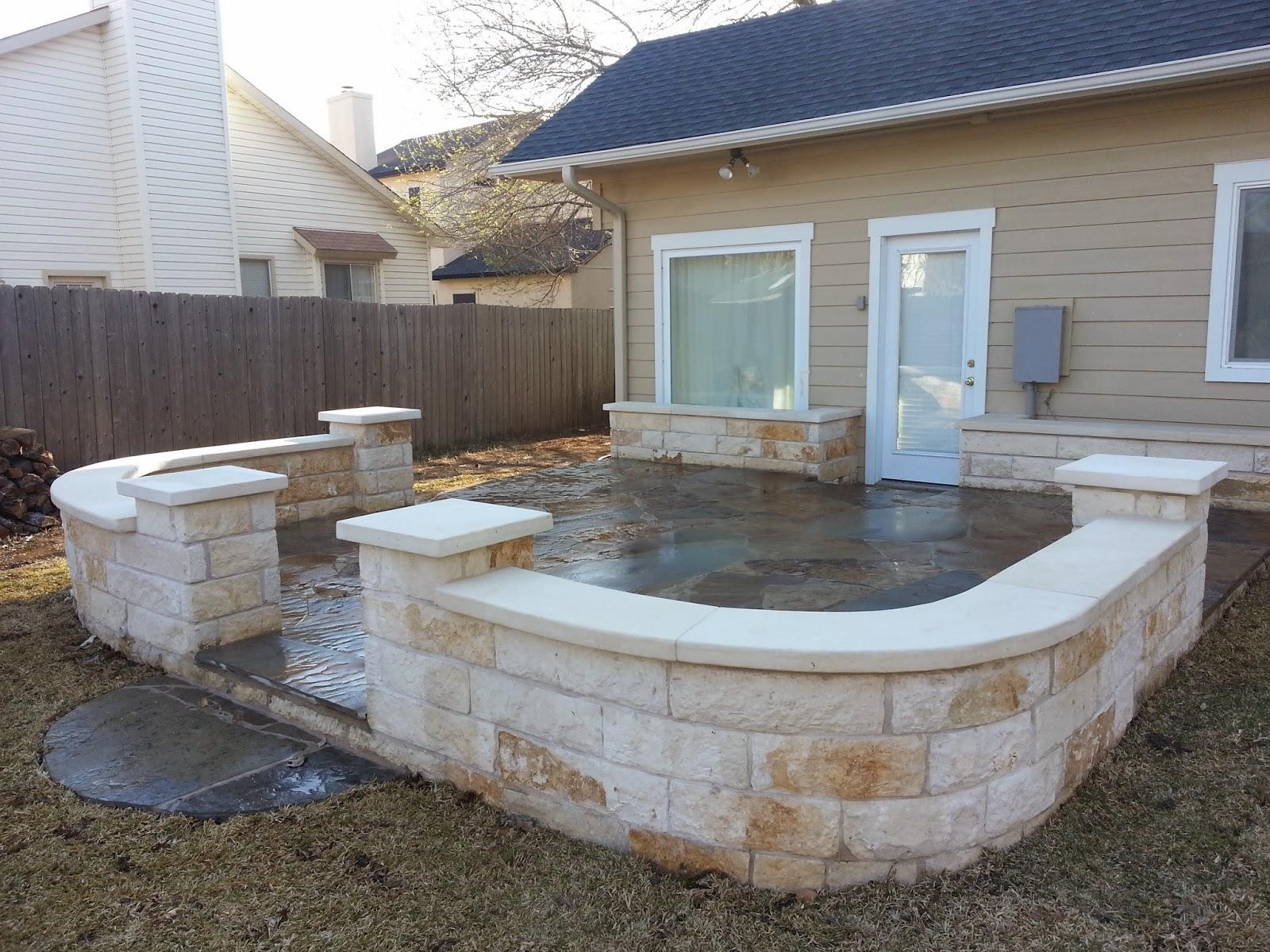 Oklahoma Patio Stone, Stone Wall