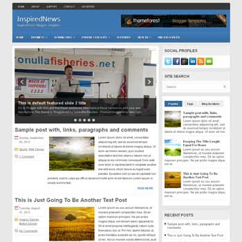 InspiredNews blog template. magazine blogger template style. magazine style template blogspot