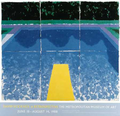 Catalogued life pool reflection with modern art tangent - David hockney swimming pool paintings ...