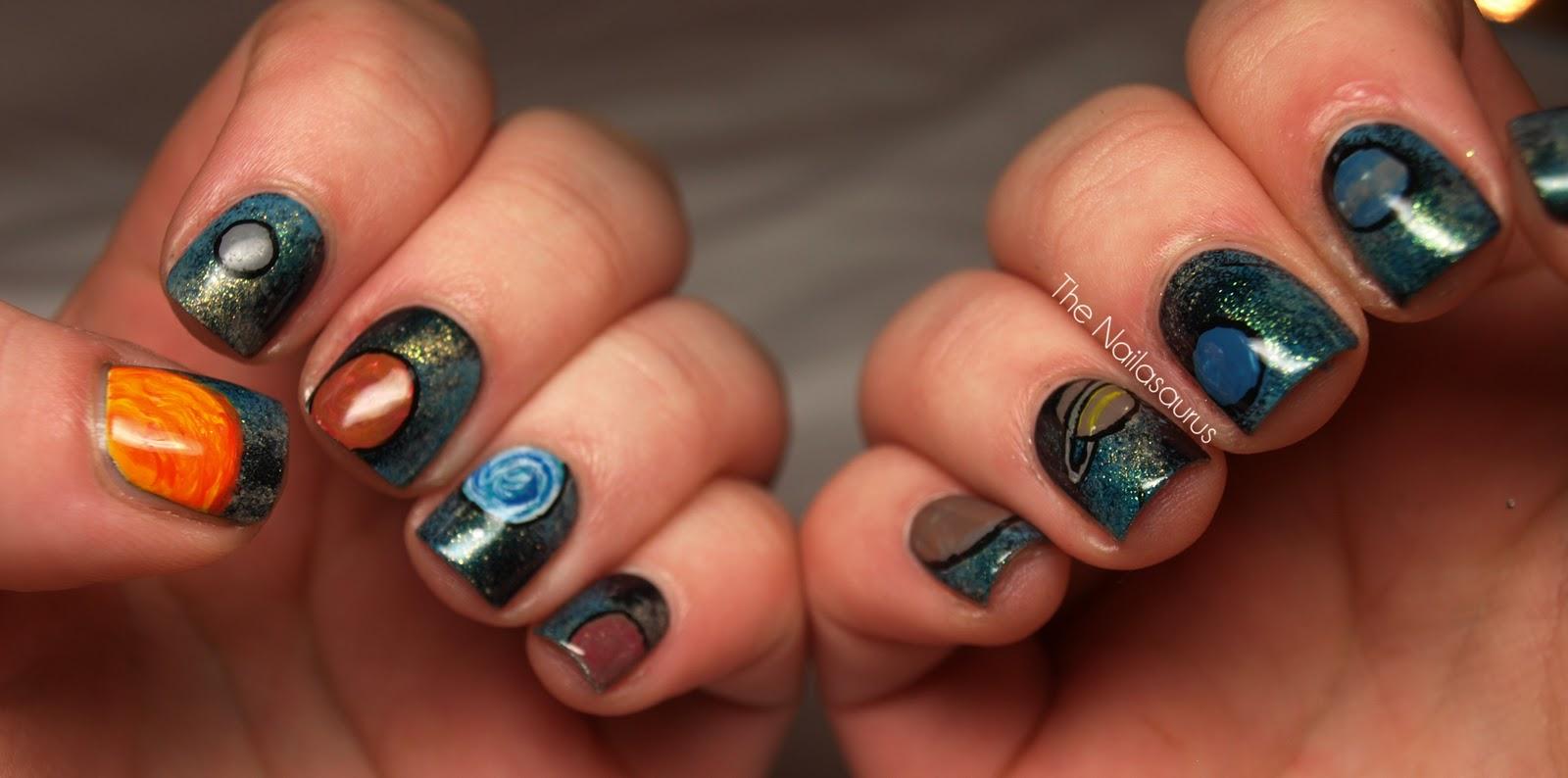 Galaxy Nails... Literally - The Nailasaurus | UK Nail Art Blog