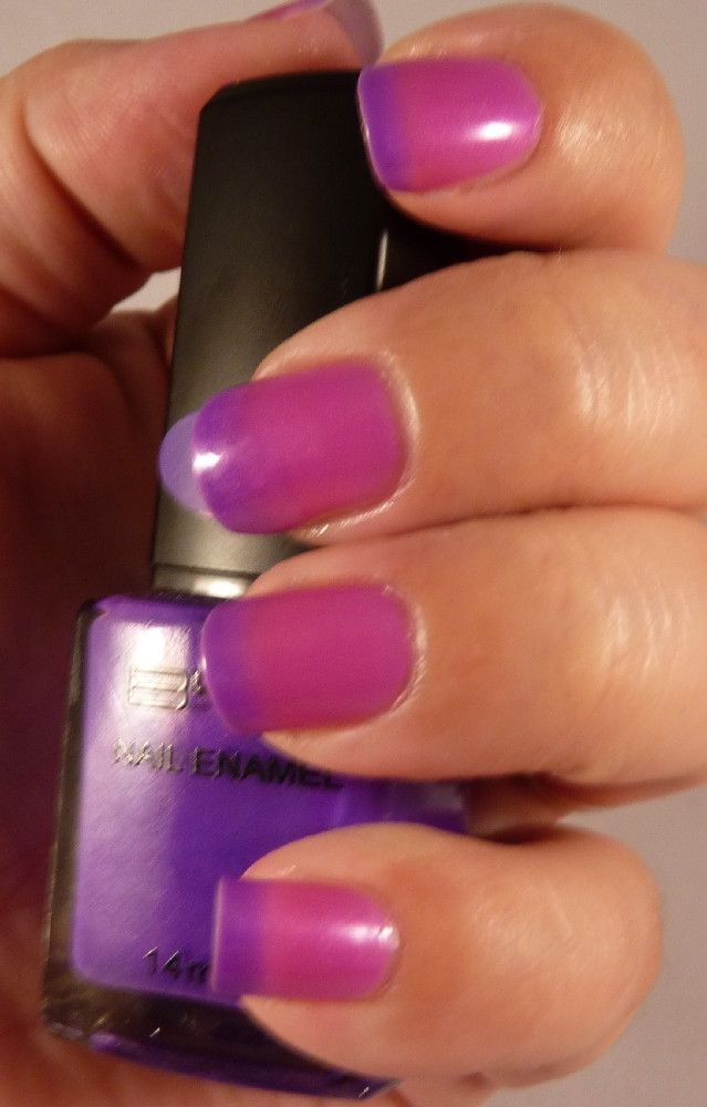 the manicured monkey bys bright purple mood polish