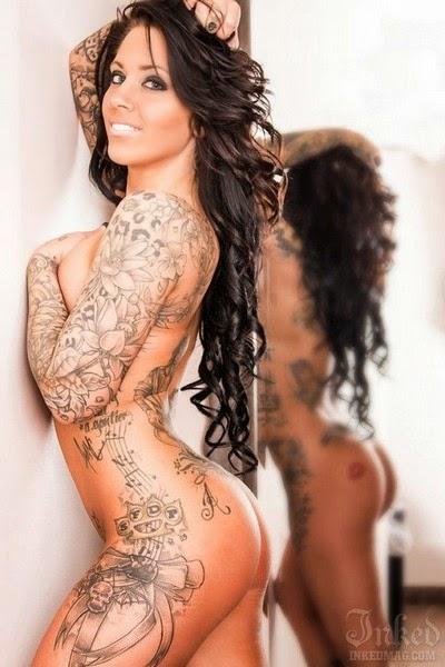 Tattoo Keren di Tubuh Cewek Bugil