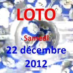 boules du LOTO - tirage du samedi 22 décembre 2012
