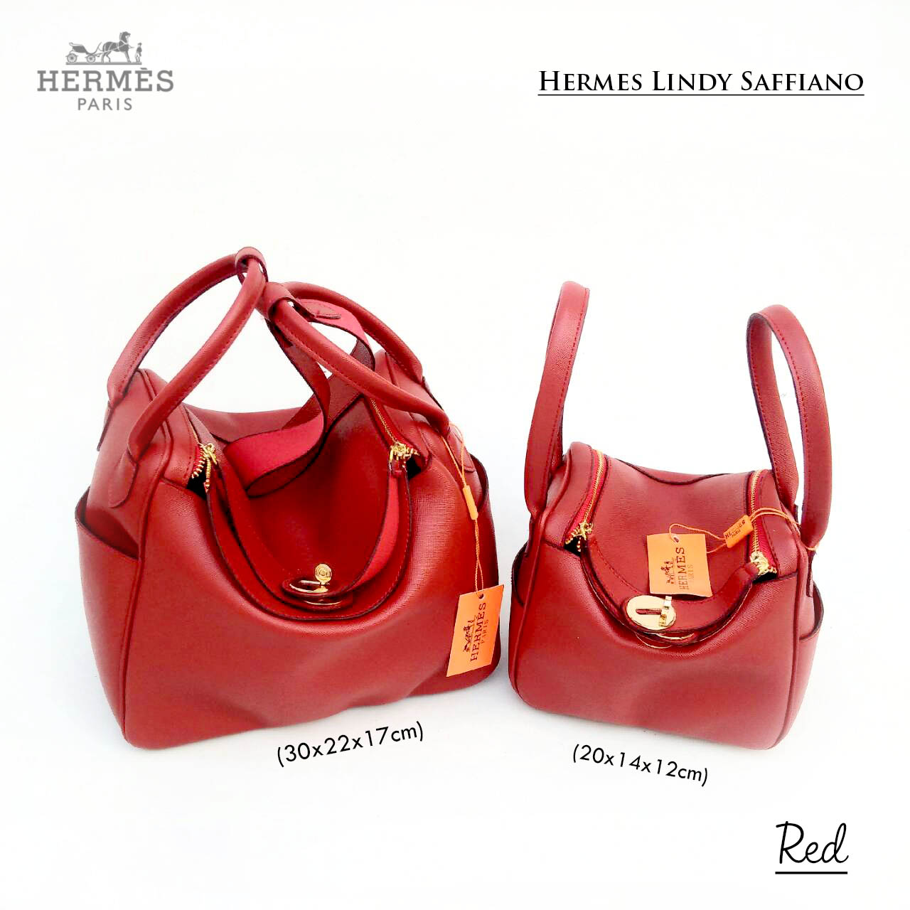 hermes lindy size
