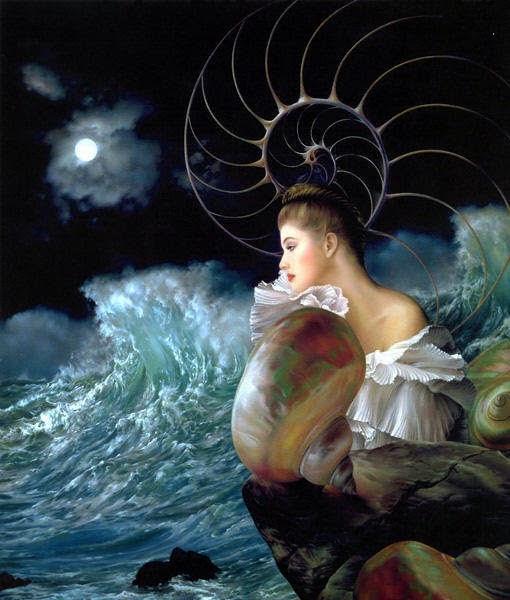 Yemanyá, Diosa de las aguas saladas, mujer nutridora, compasiva y amorosa.