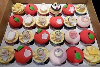 Cupcakes de Blanca Nieves, parte 1
