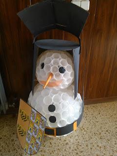 Haz Tu Propio Muñeco De Nieve Con Vasos De Plástico Estas Navidades