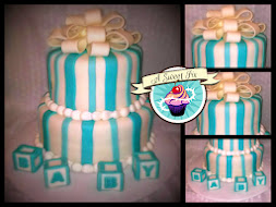 Blue Stripe Baby Shower