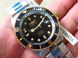 INVICTA DIVER BLACK DIAL - TWO TONE GOLD 18K - AUTOMATIC - BRAND NEW WATCH