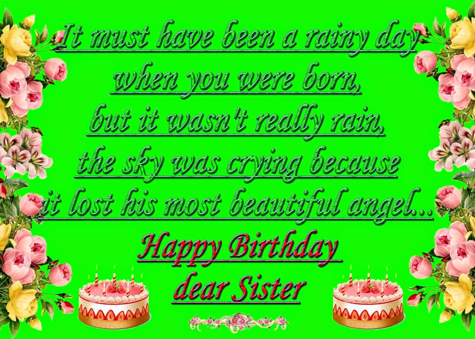 Birthday Greetings To My Sister Choice Image Greetings Card Design