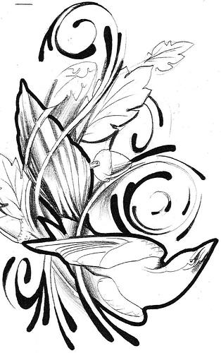 tattoo pic. 2011 Florat Side Tattoo Design