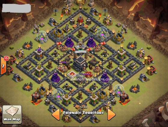 Town hall 9 base layouts reloaded new versions coc designs