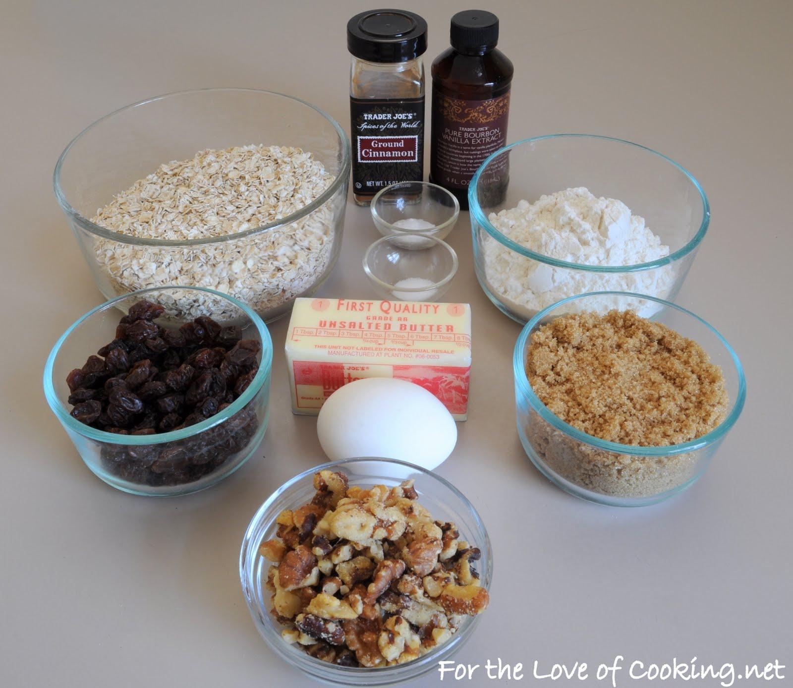 Cinnamon, Oatmeal, Raisin, and Walnut Cookies   For the Love of ...