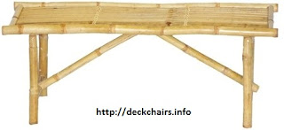 Folding Bamboo Bench Chair