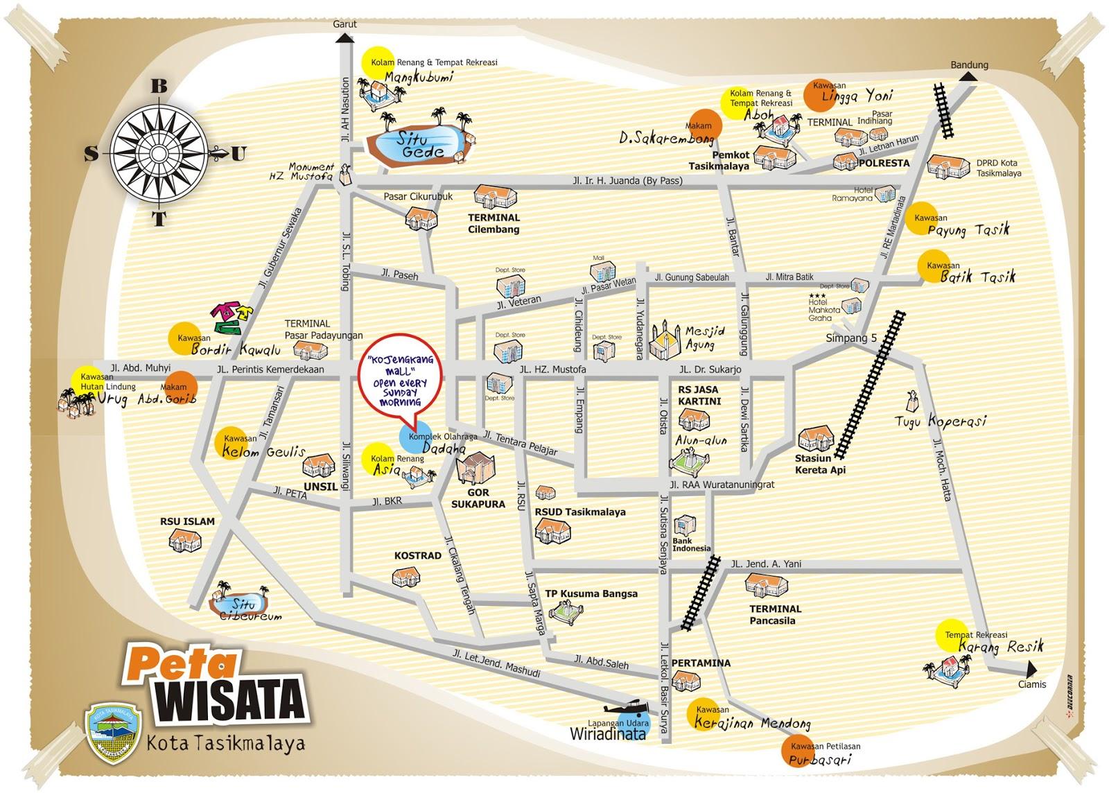Map Bandung Tasikmalaya